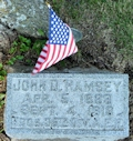 Headstone for PFC Ramsey