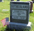 Kenneth Sutherland headstone